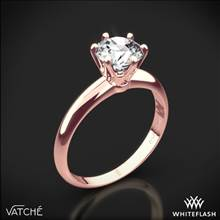 18k Rose Gold Vatche U-113 6-Prong Solitaire Engagement Ring for 2ct and Larger Diamonds | Whiteflash