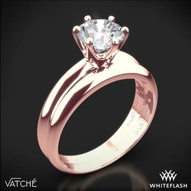 18k Rose Gold Vatche U-113 6-Prong Solitaire Wedding Set