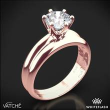 18k Rose Gold Vatche U-113 6-Prong Solitaire Wedding Set for 2ct and Larger Diamonds | Whiteflash