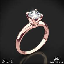 18k Rose Gold Vatche U-114 5th Avenue Solitaire Engagement Ring | Whiteflash