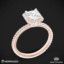 18k Rose Gold Verragio Tradition TR120HP Diamond Princess Halo Engagement Ring | Whiteflash