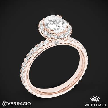 18k Rose Gold Verragio Tradition TR180HOV Diamond Oval Halo Engagement Ring