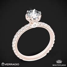 18k Rose Gold Verragio Tradition TR180TR Diamond 6 Prong Tiara Engagement Ring | Whiteflash