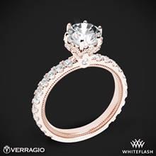 18k Rose Gold Verragio Tradition TR210TR Diamond 6 Prong Tiara Engagement Ring | Whiteflash