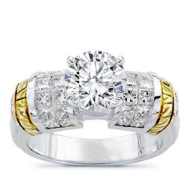 18k Two-Tone Diamond Setting