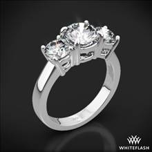 18k White Gold 3 Stone Engagement Ring (Setting Only) | Whiteflash
