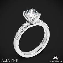 18k White Gold A. Jaffe ME1401Q Classics Diamond Engagement Ring | Whiteflash
