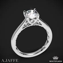 18k White Gold A. Jaffe ME1569Q Seasons of Love Solitaire Engagement Ring | Whiteflash
