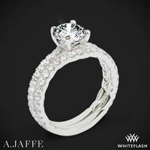 18k White Gold A. Jaffe ME1850Q Classics Diamond Wedding Set | Whiteflash