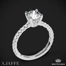 18k White Gold A. Jaffe ME1853Q Classics Diamond Engagement Ring | Whiteflash