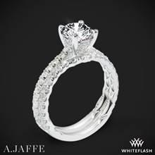 18k White Gold A. Jaffe ME1853Q Classics Diamond Wedding Set | Whiteflash