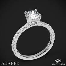 18k White Gold A. Jaffe ME1865Q Classics Diamond Engagement Ring | Whiteflash