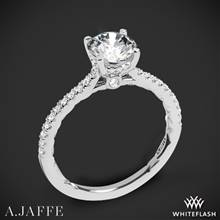 18k White Gold A. Jaffe ME2029Q Classics Diamond Engagement Ring | Whiteflash