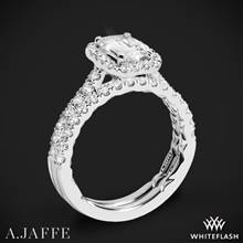 18k White Gold A. Jaffe ME2051Q Seasons of Love Halo Diamond Wedding Set | Whiteflash