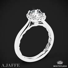 18k White Gold A. Jaffe ME2053Q Halo Diamond Engagement Ring | Whiteflash