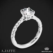 18k White Gold A. Jaffe ME2141Q Diamond Engagement Ring | Whiteflash