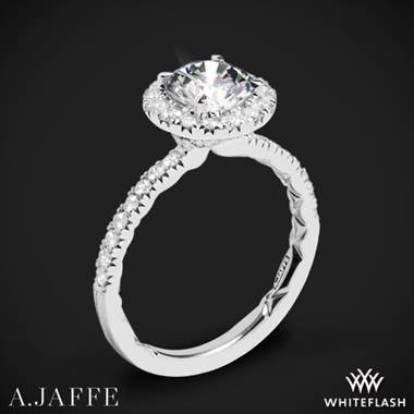 18k White Gold A. Jaffe ME2167Q Classics Halo Diamond Engagement Ring