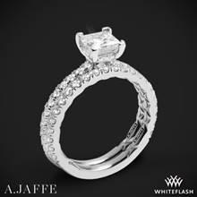 18k White Gold A. Jaffe ME2251Q Diamond Wedding Set | Whiteflash