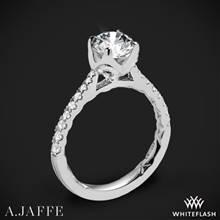 18k White Gold A. Jaffe ME2252Q  Diamond Engagement Ring | Whiteflash