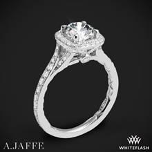18k White Gold A. Jaffe ME2256Q Halo Diamond Engagement Ring | Whiteflash
