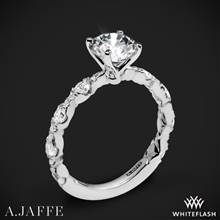 18k White Gold A. Jaffe ME2303Q Diamond Engagement Ring | Whiteflash