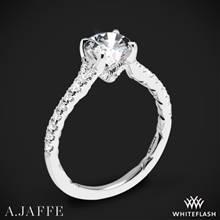 18k White Gold A. Jaffe ME3001QB Diamond Engagement Ring   Whiteflash