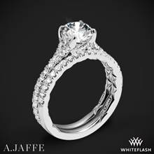 18k White Gold A. Jaffe ME3001QB Diamond Wedding Set | Whiteflash