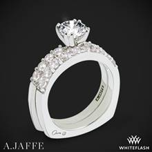 18k White Gold A. Jaffe MES078 Classics Diamond Wedding Set | Whiteflash