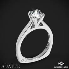 18k White Gold A. Jaffe MES166 Classics Solitaire Engagement Ring | Whiteflash