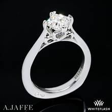 18k White Gold A. Jaffe MES438 Seasons of Love Solitaire Engagement Ring | Whiteflash