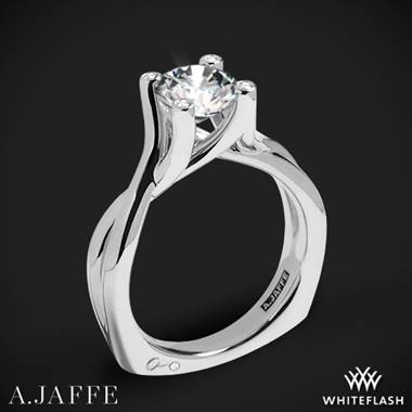 18k White Gold A. Jaffe MES463 Seasons of Love Solitaire Engagement Ring