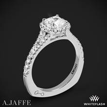 18k White Gold A. Jaffe MES576 Metropolitan Halo Diamond Engagement Ring   Whiteflash