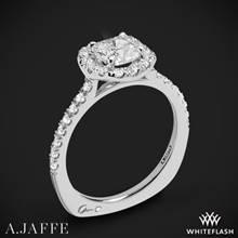 18k White Gold A. Jaffe MES577 Metropolitan Halo Diamond Engagement Ring | Whiteflash