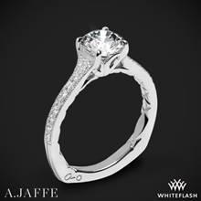 18k White Gold A. Jaffe MES738Q Art Deco Diamond Engagement Ring | Whiteflash