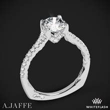 18k White Gold A. Jaffe MES742QB Classics Diamond Engagement Ring | Whiteflash