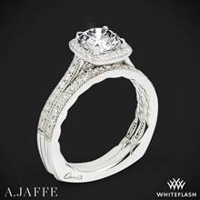 18k White Gold A. Jaffe MES754Q Seasons of Love Halo Diamond Wedding Set | Whiteflash