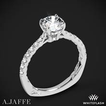 18k White Gold A. Jaffe MES755Q Seasons of Love Diamond Engagement Ring | Whiteflash