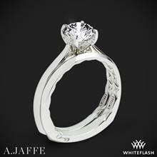 18k White Gold A. Jaffe MES837Q Solitaire Wedding Set   Whiteflash