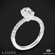 18k White Gold A. Jaffe MES867 Seasons of Love Diamond Engagement Ring | Whiteflash