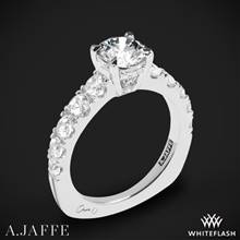 18k White Gold A. Jaffe MES870 Metropolitan Diamond Engagement Ring | Whiteflash