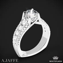 18k White Gold A. Jaffe MES898 Diamond Engagement Ring | Whiteflash