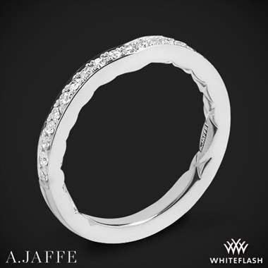 18k White Gold A. Jaffe MR1569Q Seasons of Love Diamond Wedding Ring