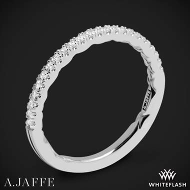 18k White Gold A. Jaffe MR2053Q Diamond Wedding Ring