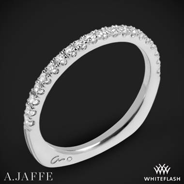 18k White Gold A. Jaffe MRS577 Metropolitan Diamond Wedding Ring