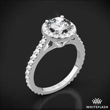 18k White Gold Amphora Diamond Engagement Ring   Whiteflash