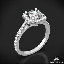 18k White Gold Amphora Diamond Engagement Ring for Princess | Whiteflash