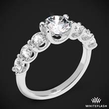 18k White Gold Annette's U Prong Diamond Engagement Ring | Whiteflash