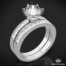 18k White Gold Bead-Set Diamond Wedding Set | Whiteflash