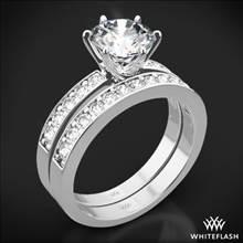 18k White Gold Bead-Set Diamond Wedding Set | Whiteflash