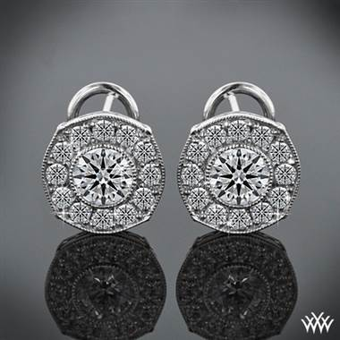 "18k White Gold ""Bella"" Diamond Earrings (2 Round Brilliant Diamonds Included)"